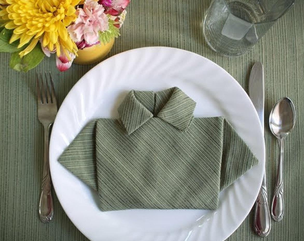 Сервировка салфетками пошагово фото