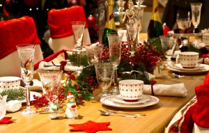 Christmas themed dinner table; Shutterstock ID 117769615; PO: The Huffington Post; Job: The Huffington Post; Client: The Huffington Post; Other: The Huffington Post